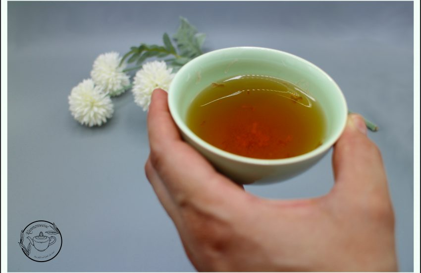 Teeschale Hand Dekoration